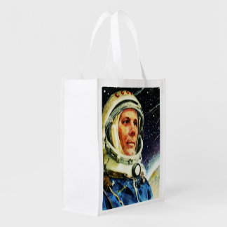RETRO SPACE AGE 1960's Reusable Grocery Bag