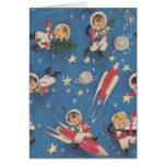 Retro Space-Age Christmas Card