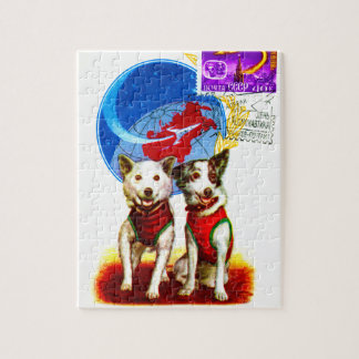 RETRO SPACE AGE (SOVIET DOG ASTRONAUTS) JIGSAW PUZZLE