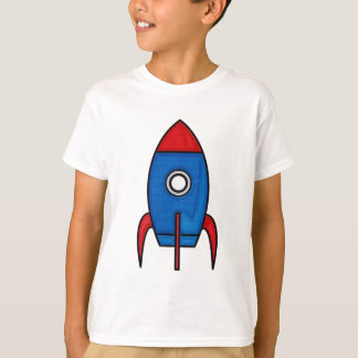 Retro Space Rocket Kids T-Shirt