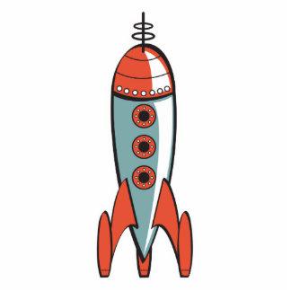 retro space rocket photo sculpture decoration