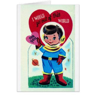 Retro Space Valentine Card