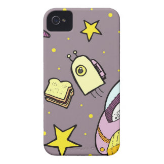 Retro Space Voyage iPhone 4 Cover