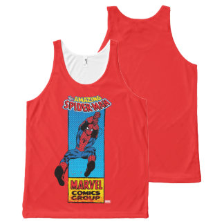 Retro Spider-Man Comic Graphic All-Over Print Singlet