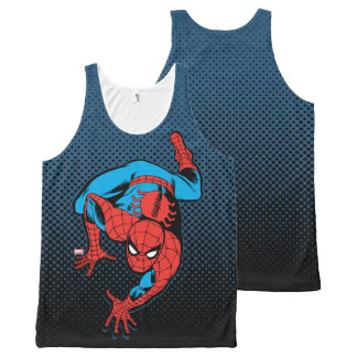 Retro Spider-Man Wall Crawl All-Over Print Tank Top