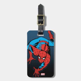 Retro Spider-Man Wall Crawl Luggage Tag