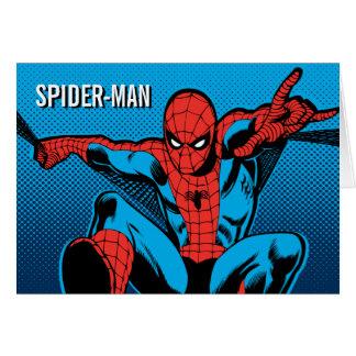 Retro Spider-Man Web Shooting Card
