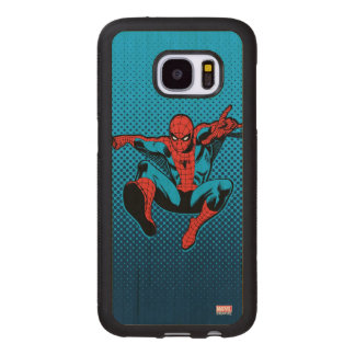 Retro Spider-Man Web Shooting Wood Samsung Galaxy S7 Case