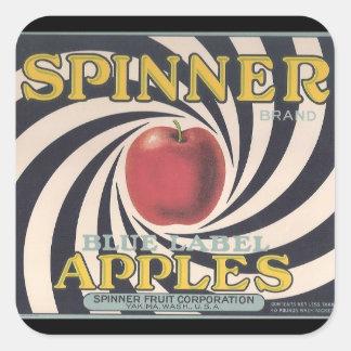 Retro Spinner apple brand stickers