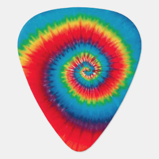 Retro Spiral Tie Dye Guitar Pick