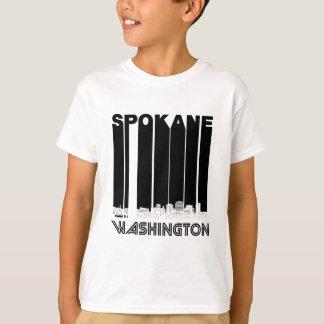 Retro Spokane Washington Skyline T-Shirt
