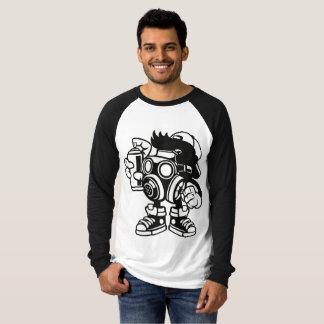 Retro Spray Can Man Long Sleeve Raglan T-Shirt