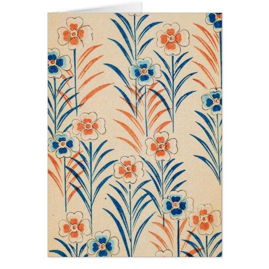 Retro Spring Flowers Card