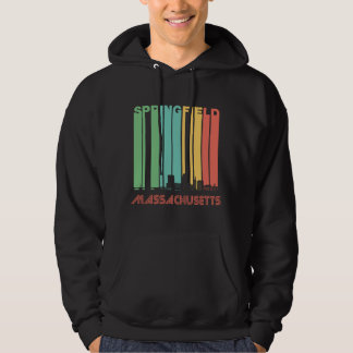 Retro Springfield Massachusetts Skyline Hoodie
