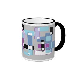 retro squares 2 ringer mug
