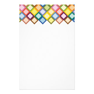 Retro Squares Bright Stationery