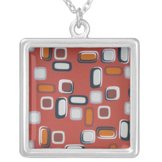 Retro Squares Necklace