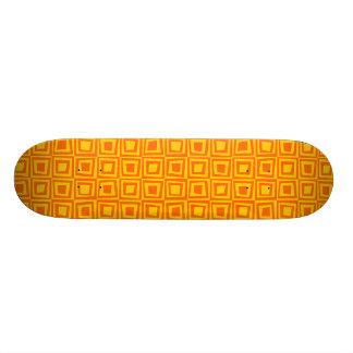 Retro Squares - Orange on Amber 21.6 Cm Skateboard Deck