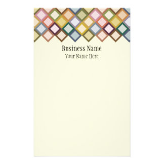Retro Squares Stationery