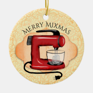 Retro stand mixer baking Christmas ornament