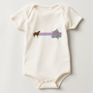 Retro Star Flat Coated Retriever Baby Bodysuit