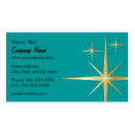 Retro Starburst Business Card - Teal