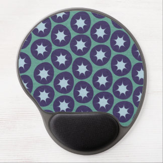 Retro Starburst Pattern Gel Mouse Pad