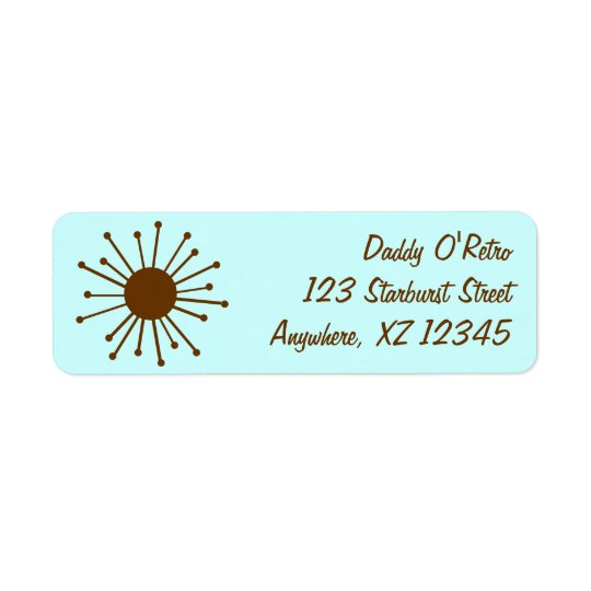 Retro Starburst Return Address Label