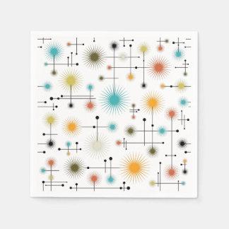 Retro Starbursts A Go-Go! Paper Napkin