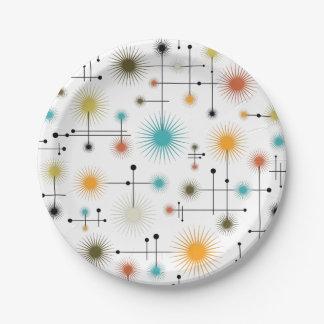 Retro Starbursts A Go-Go! Paper Plate