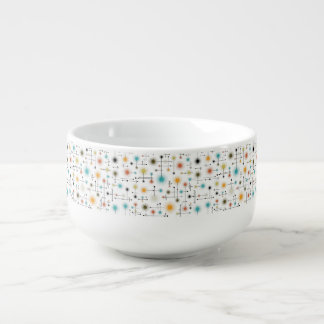 Retro Starbursts A Go-Go! Soup Bowl With Handle