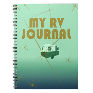 Retro Starlight Green RVers Journal Spiral Note Books