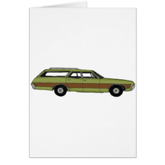 retro station wagon card
