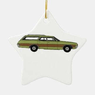 retro station wagon ceramic star decoration