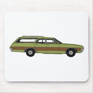 retro station wagon mouse pad