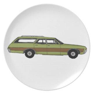 retro station wagon plates