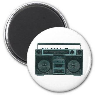 retro stereo 6 cm round magnet