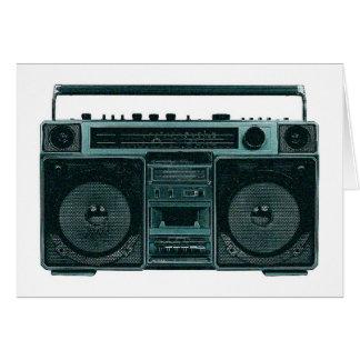 retro stereo card