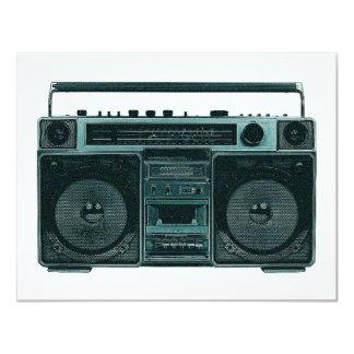 retro stereo invitation