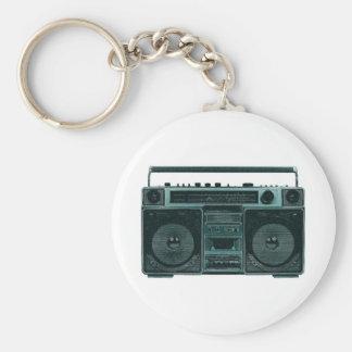 retro stereo keychain