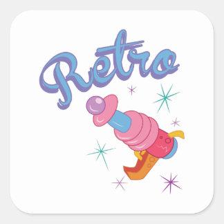 Retro Square Sticker