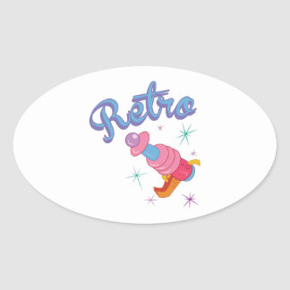 Retro Oval Sticker