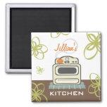 Retro Stove Modern Kitchen Magnet