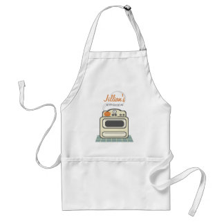 Retro Stove / Modern Kitchen Personalized Apron