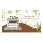 Retro Stove Orange & Blue Kitchen Caterer / Chef Pack Of Standard Business Cards