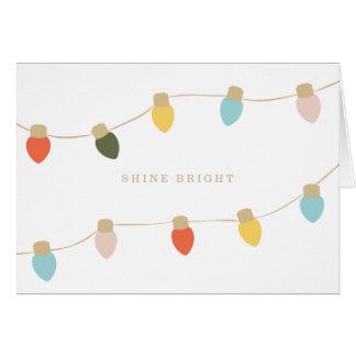 Retro String Lights Greeting Card