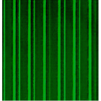 Retro Stripe Green Acrylic Cut Out