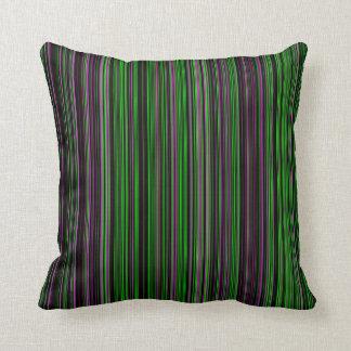 Retro stripe lime green purple decor pillow