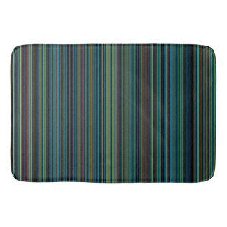 Retro stripe purple green blue brown bathmat