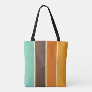 Retro Stripe Tote Bag